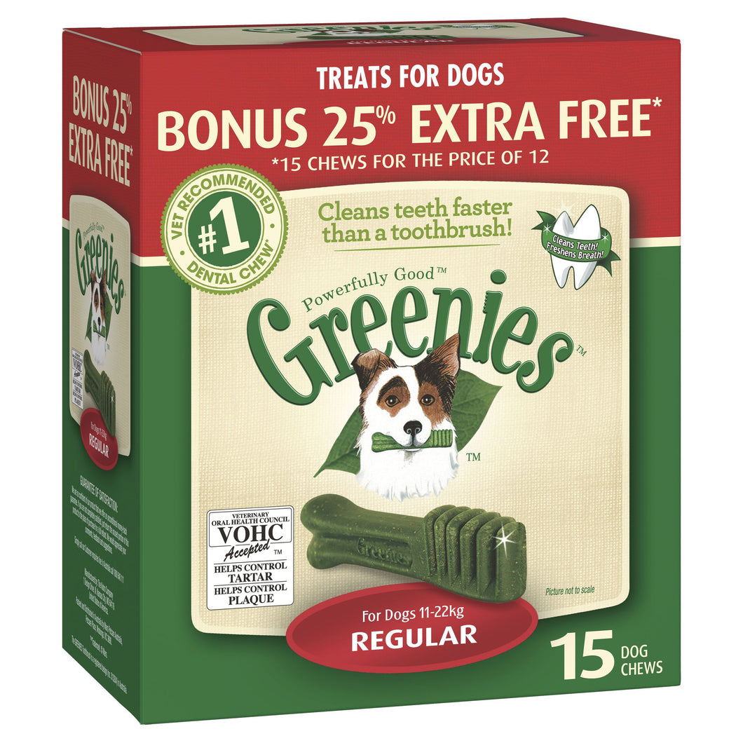 Greenies Dental Chews Treat-Pak Regular Bonus Tub 425g | Choice Vet Pharmacy