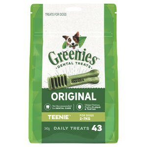 Greenies Dental Chews Original Treat Pack Teenie 340g (43) | Choice Vet Pharmacy