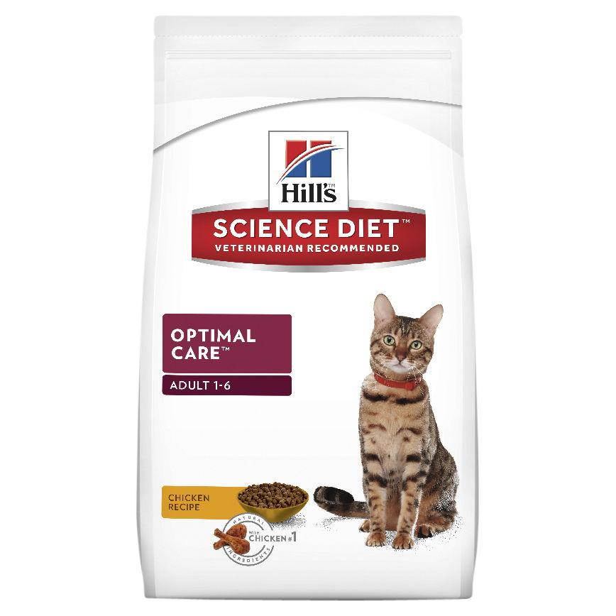 Hill's Science Diet Adult Optimal Care Dry Cat Food 2kg | Choice Vet Pharmacy