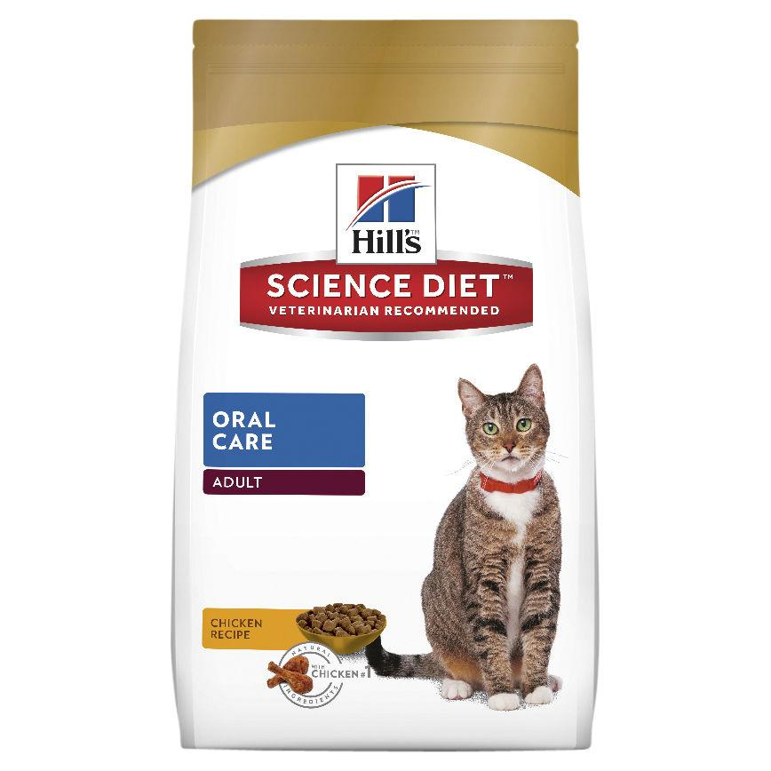 Hill's Science Diet Adult Oral Care Dry Cat Food 4kg | Choice Vet Pharmacy