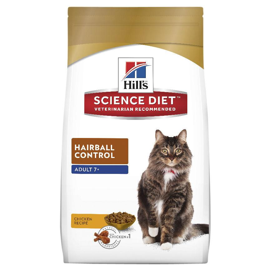 Hill's Science Diet Adult 7+ Hairball Control Dry Cat Food 4kg | Choice Vet Pharmacy