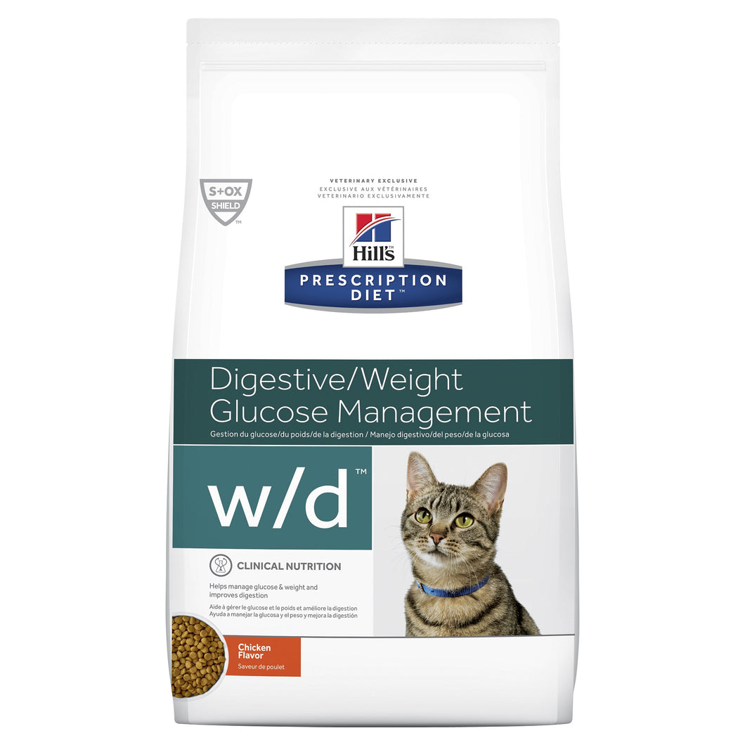 Hill's Prescription Diet w/d Digestive/Weight Management Dry Cat Food 1.5kg | Choice Vet Pharmacy