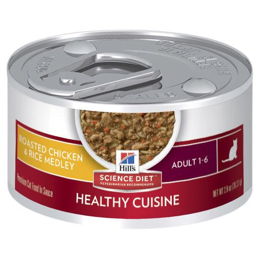 Hill's Science Diet Adult Healthy Cuisine Chicken & Rice Medley Canned Cat Food 79g | Choice Vet Pharmacy
