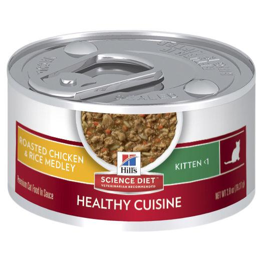 Hill's Science Diet Kitten Healthy Cuisine Chicken & Rice Medley Canned Cat Food 79g | Choice Vet Pharmacy