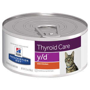 Hill's Prescription Diet y/d Thyroid Care Canned Cat Food 156g | Choice Vet Pharmacy