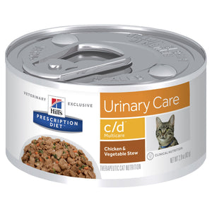 Hill's Prescription Diet c/d Multicare Urinary Care Chicken & Vegetable Stew Canned Cat Food 82g | Choice Vet Pharmacy