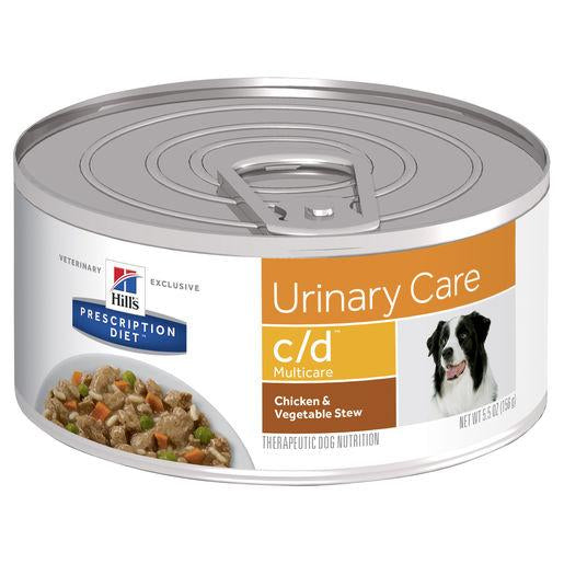 Hill's Prescription Diet c/d Multicare Urinary Care Chicken & Vegetable Stew Canned Dog Food 156g | Choice Vet Pharmacy