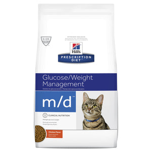 Hill's Prescription Diet m/d Glucose/Weight Management Dry Cat Food 1.8kg | Choice Vet Pharmacy