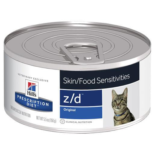 Hill's Prescription Diet z/d Skin/Food Sensitivities Canned Cat Food 156g | Choice Vet Pharmacy