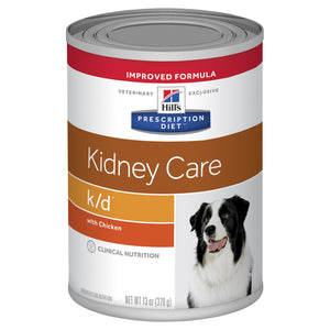 Hill's Prescription Diet k/d Kidney Care with Chicken Canned Dog Food 370g | Choice Vet Pharmacy