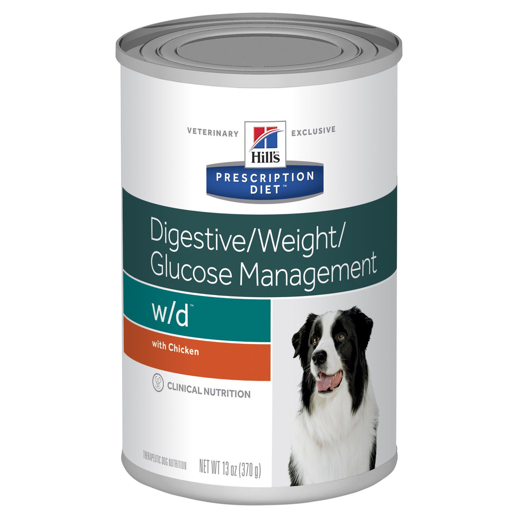 Hill's Prescription Diet w/d Digestive/Weight/Glucose Management Canned Dog Food 370g | Choice Vet Pharmacy