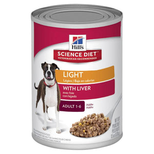 Hill's Science Diet Adult Light with Liver Canned Dog Food 370g | Choice Vet Pharmacy