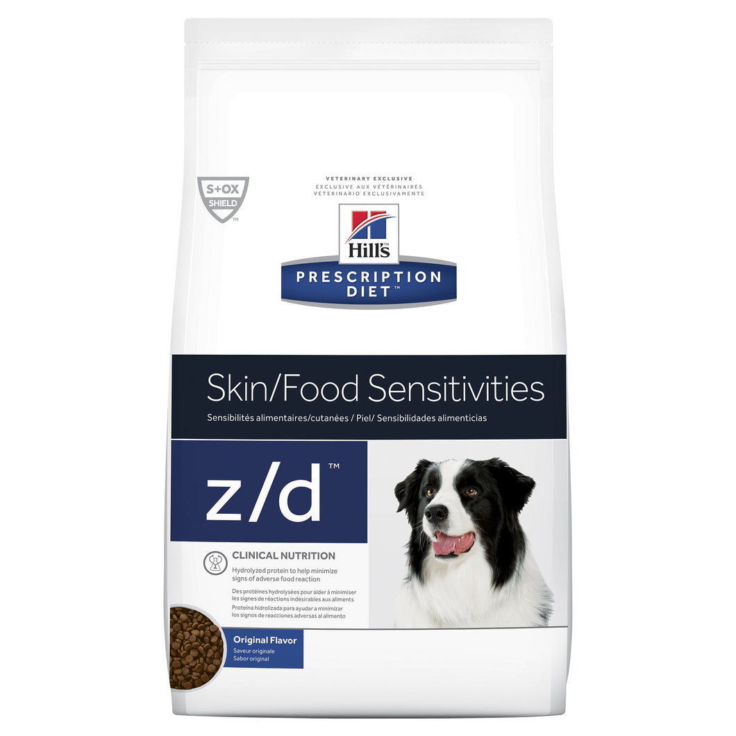 Hill's Prescription Diet z/d Skin/Food Sensitivities Dry Dog Food 3.6kg | Choice Vet Pharmacy