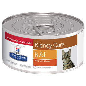 Hill's Prescription Diet k/d Kidney Care Pâté with Chicken Canned Cat Food 156g | Choice Vet Pharmacy