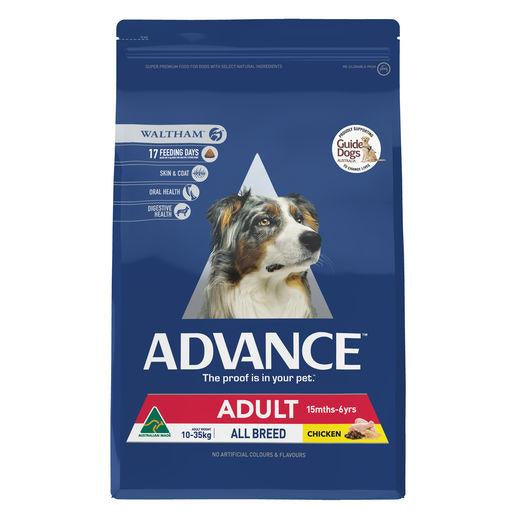 ADVANCE Adult All Breed Dry Dog Food Chicken 3kg | Choice Vet Pharmacy