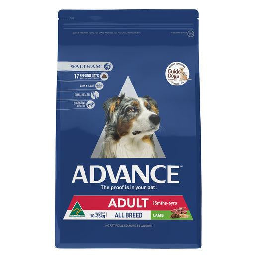 ADVANCE Adult All Breed Dry Dog Food Lamb 3kg | Choice Vet Pharmacy