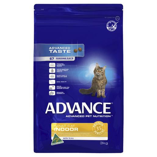 ADVANCE Adult Indoor Dry Cat Food with Tuna 3kg Bag | Choice Vet Pharmacy