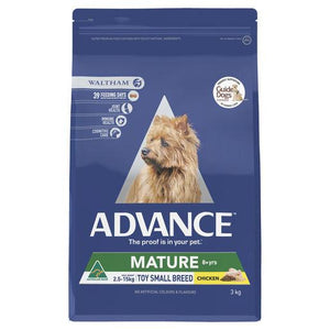 ADVANCE Mature Toy/Small Breed Dry Dog Food Chicken 3kg | Choice Vet Pharmacy