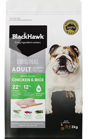 Black Hawk Adult Chicken & Rice 3kg | Choice Vet Pharmacy