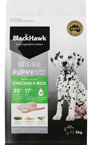 Black Hawk Puppy Chicken & Rice 3kg | Choice Vet Pharmacy