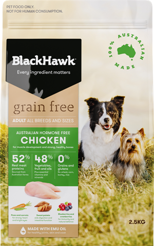 Black Hawk Adult Grain-free Chicken 2.5kg | Choice Vet Pharmacy