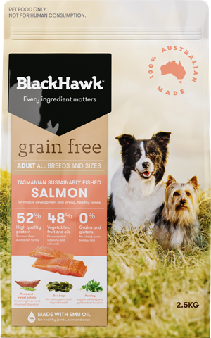 Black Hawk Adult Grain-free Salmon Adult 15kg | Choice Vet Pharmacy