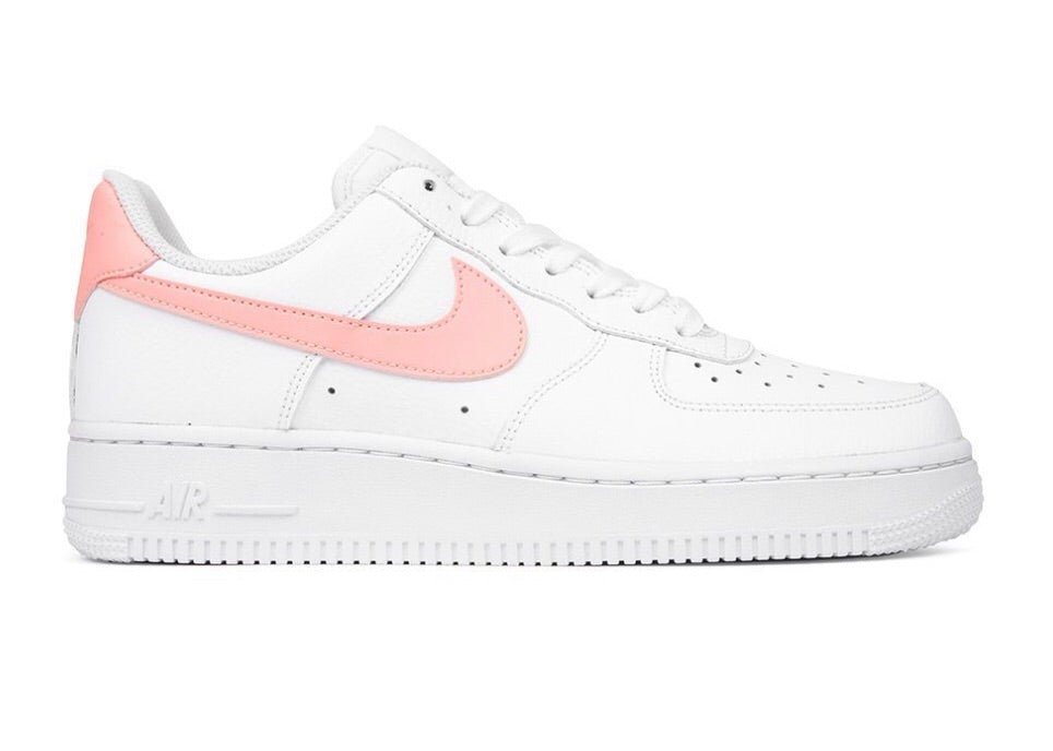 pretty nice 06aad 08e02 NIKE WOMEN S AIR FORCE 1  07 - WHITE ORACLE PINK ...
