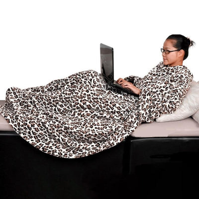 Full Body Snuggle Blanket With Sleeves