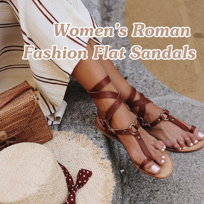 haloera™ Women's Roman Fashion Flat Sandals