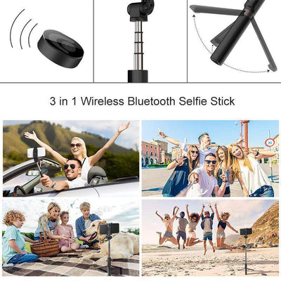 MVSTU™ 3 in 1 Wireless Bluetooth Selfie Stick