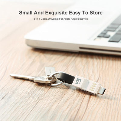 3-in-1 Keychain Data Sync Charge Cable