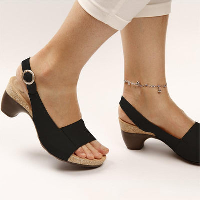 haloera™ Women Elegant Low Chunky Heel Comfy Sandals