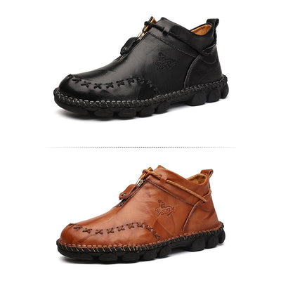 Hand Stitching Non Slip Soft Sole Casual Boots