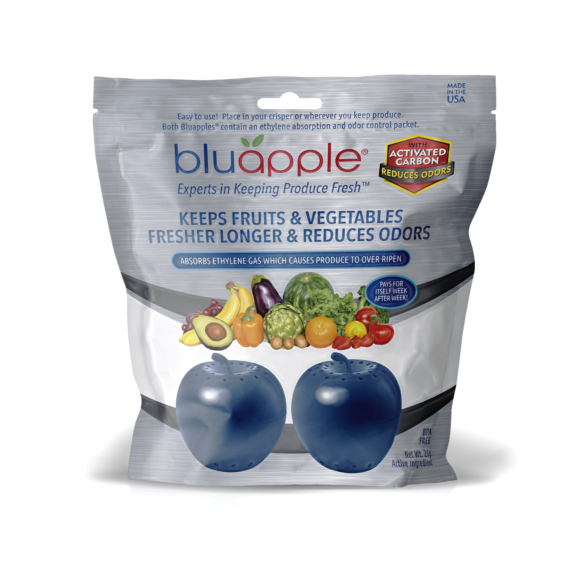 Bluapple® 2-Pack with Activated Carbon