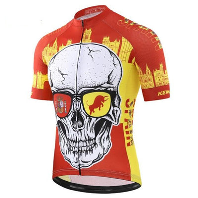 Fiery Spain Short Sleeve Cycling Jersey