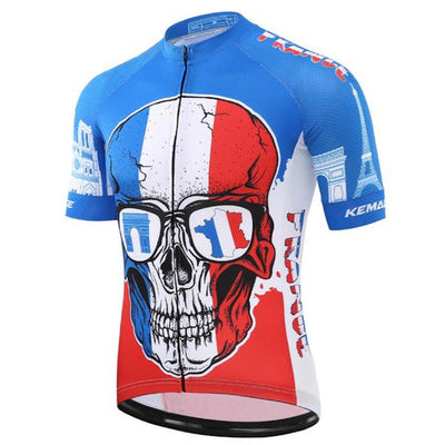 French Skull Cycling Jersey