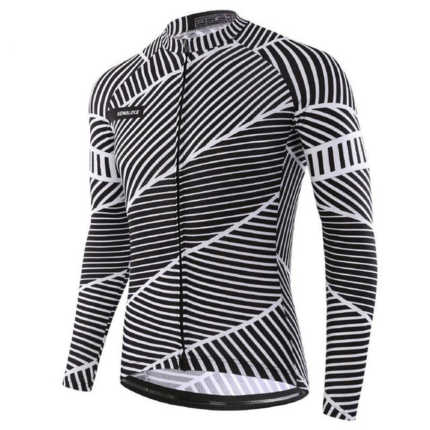 Jagged Lines Long Sleeve Cycling Jersey