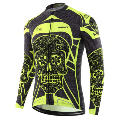 Mind Body and Soul Neon Long Sleeve Cycling Jersey