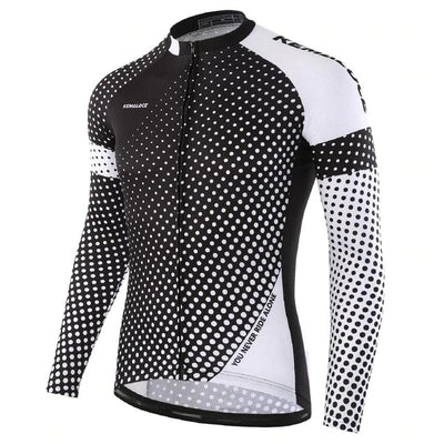 Polka Dot Long Sleeve Cycling Jersey