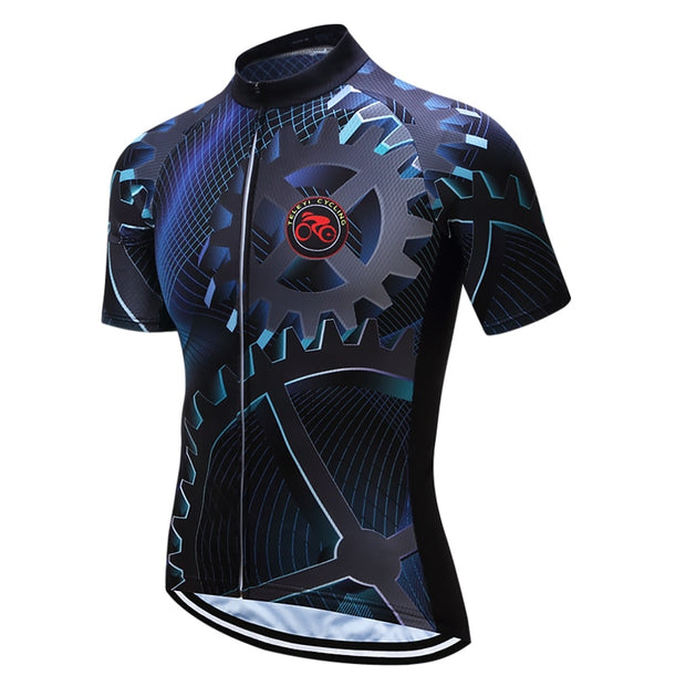 Bolts and Gears Short Sleeve Cycling Jersey