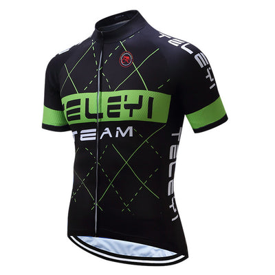 Green Tartan Short Sleeve Cycling Jersey
