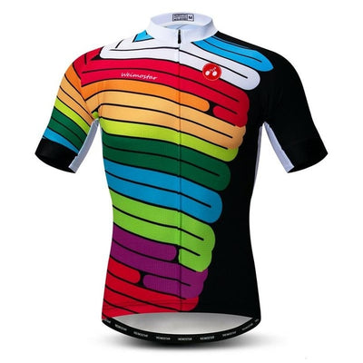 Color Wave Short Sleeve Cycling Jersey