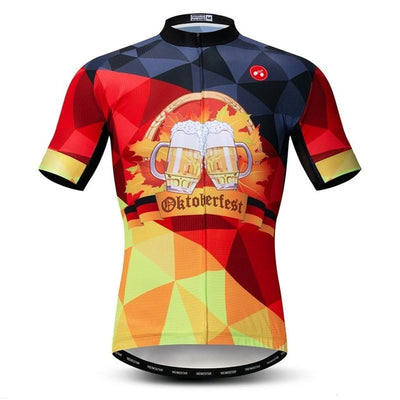 Oktoberfest Beer Short Sleeve Cycling Jersey