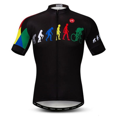 Human Evolution Short Sleeve Cycling Jersey