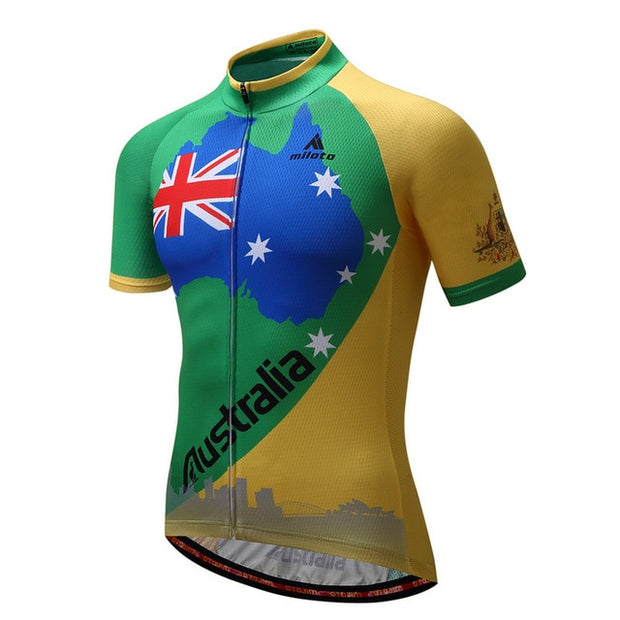Team Australia Short Sleeve Cycling Jersey