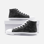 Fuckinuts Black Camo Unisex High Top Canvas Shoes - Fuckinuts