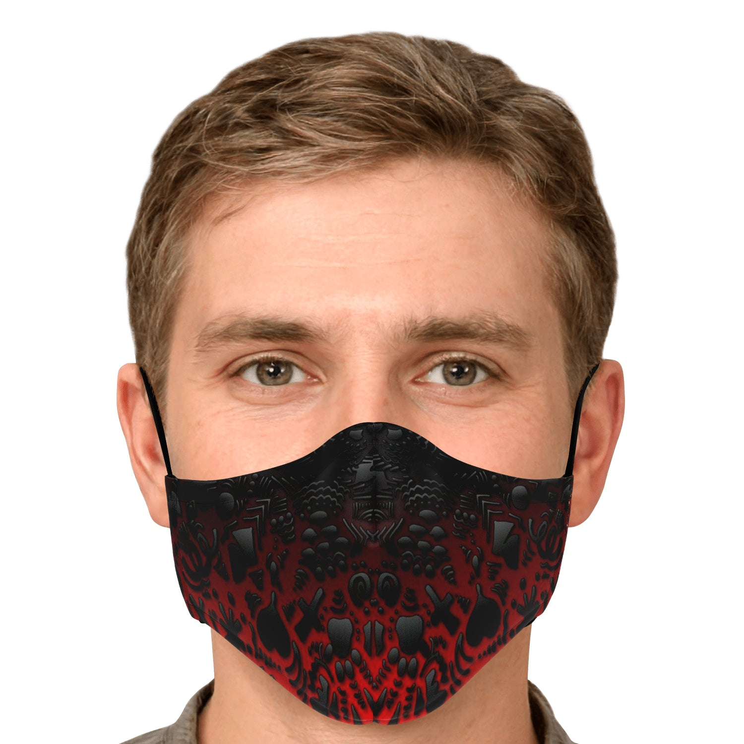 DZ Scribble Black & Red Mask