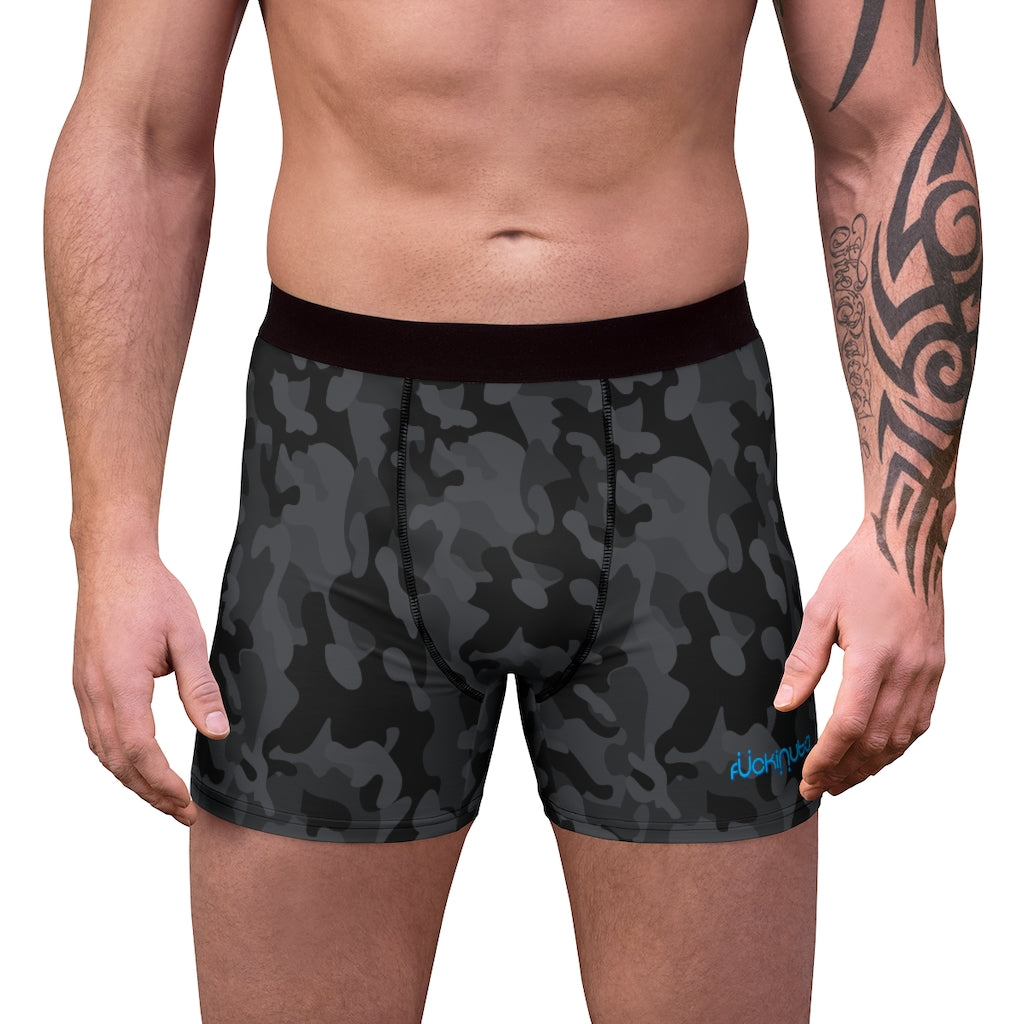 Scratch n Sniff Black Camo Men's Boxer Briefs - Fuckinuts