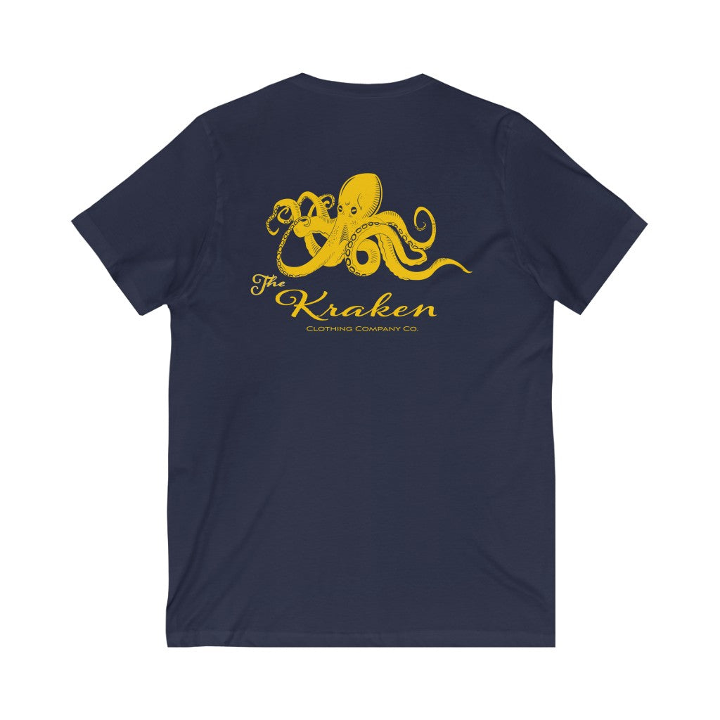 The Kraken Navy V-Neck Tee - Fuckinuts