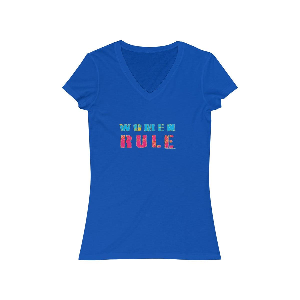 Women Rule Short Sleeve V-Neck Tee - Fuckinuts